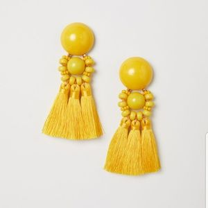 Yellow Earrings with Tassels (Worn Once)